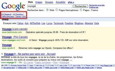 Google-customize-options-trends - 1ère Position