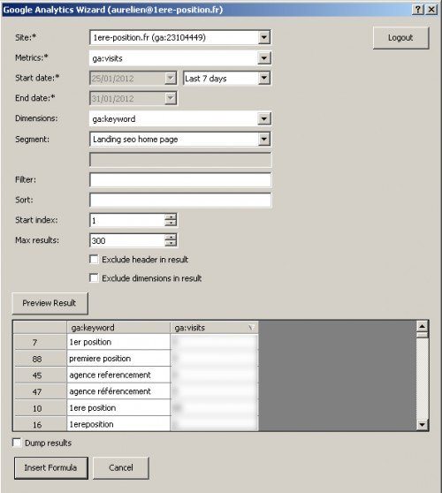 google-analytics-excel1 - SEO Tools - 1ère Position