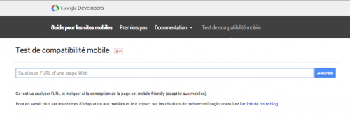 google outil test compatibilite site mobile - 1ere Position
