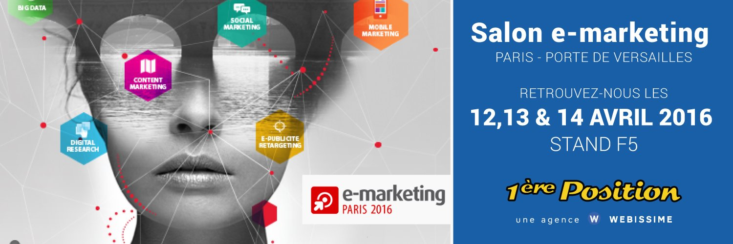 Salon e-marketing avril 2016 - 1ère Position