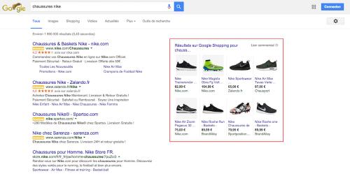 Nouvelle annonces Ads et Google Shopping - 1ère Position