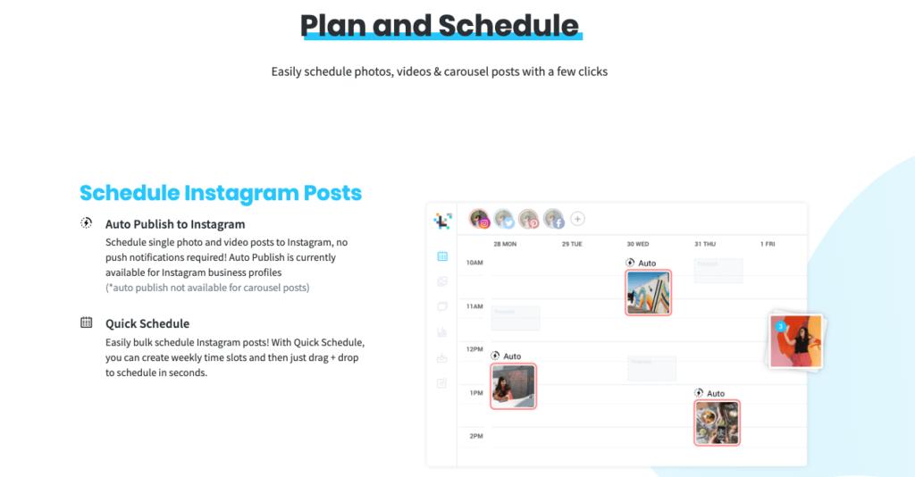 Programmer une publication sur Instagram avec Later