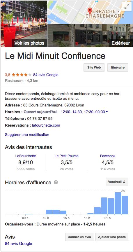avis client dans Google My Business - 1ère Position