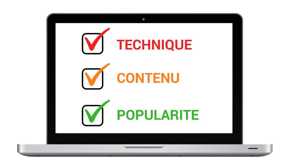 le tryptique du SEO : technique, contenu et popularité - les bases du SEO - 1ère Position