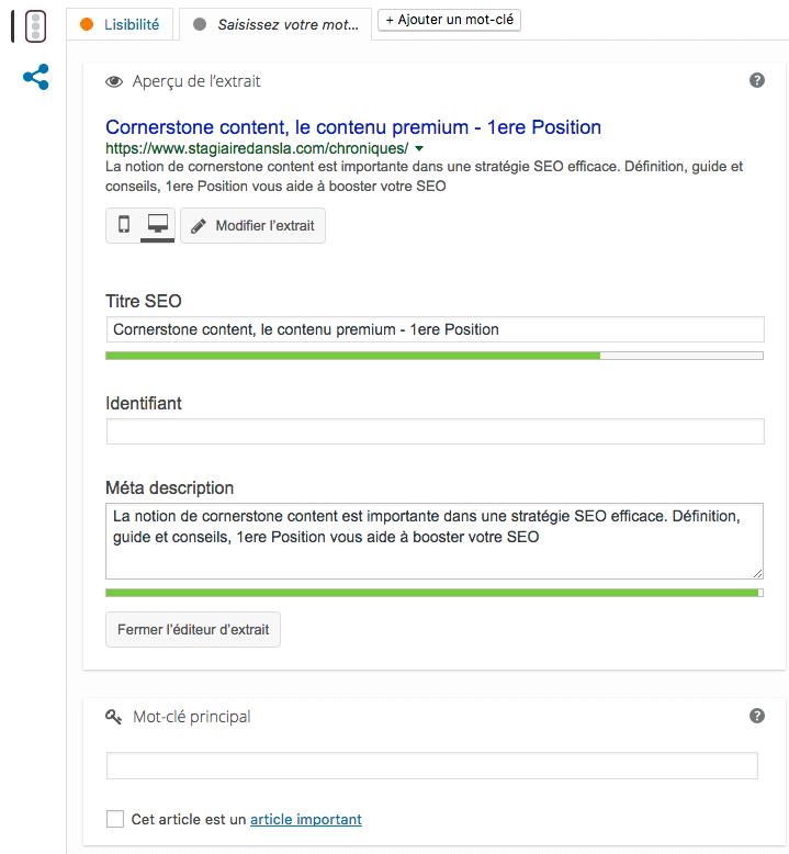 Yoast SEO, plugin WordPress important en référencement naturel - 1ère Position