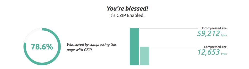 compression gzip ameliorer vitesse chargement site - 1ère Position