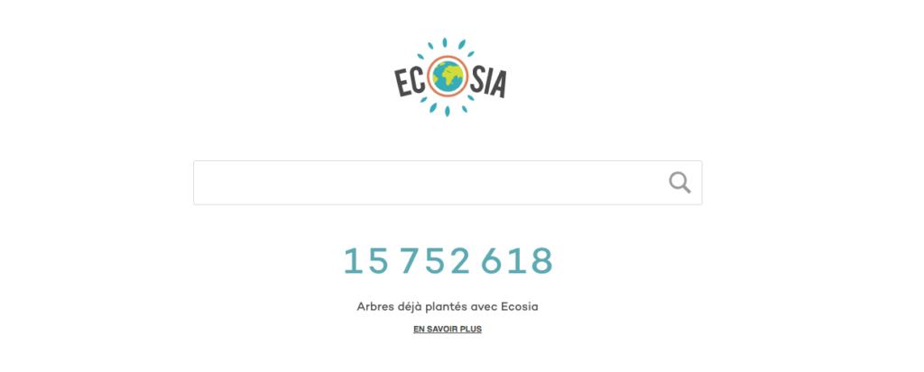 ecosia google moteur recherche alternatif