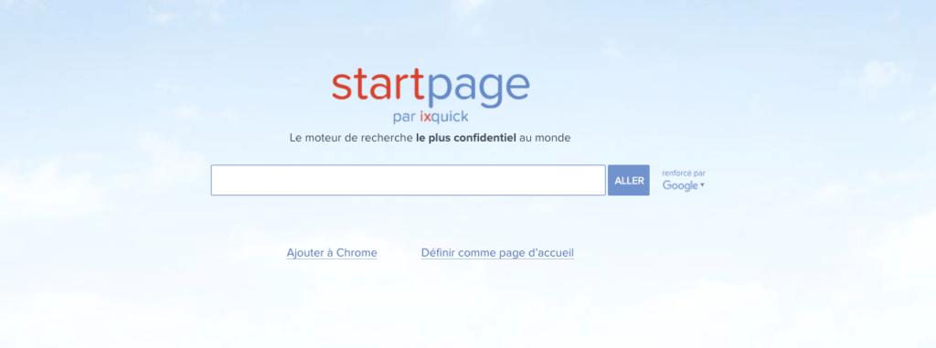 startpage moteur recherche alternatif google