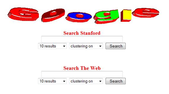 Le logo Google en 1997, imaginé par Larry Page et Sergey Brin.