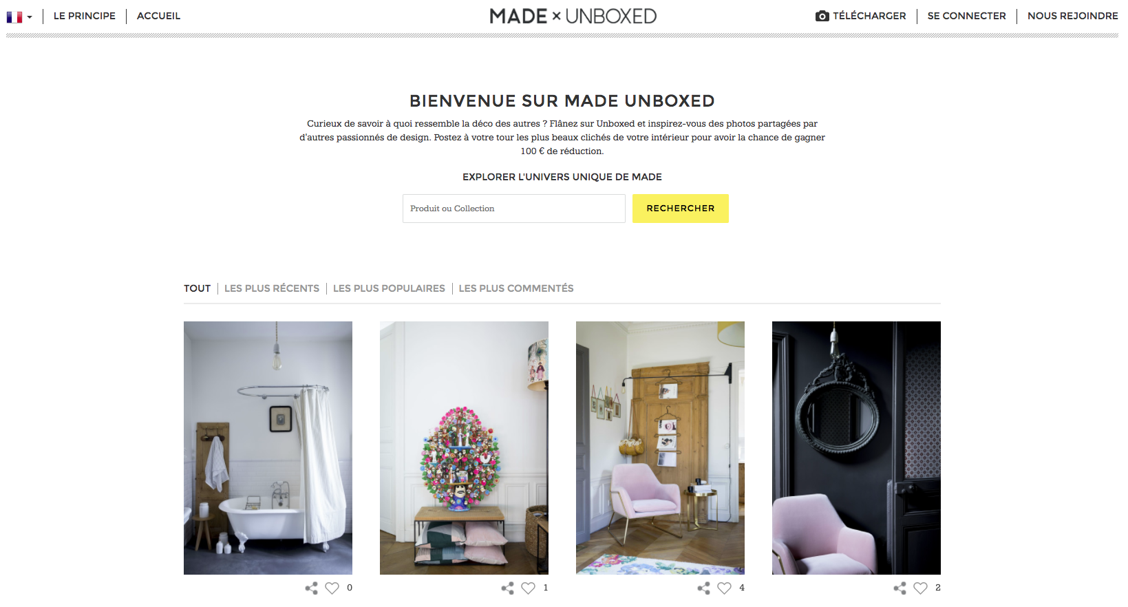 made.com unboxed user content blog 1ere position