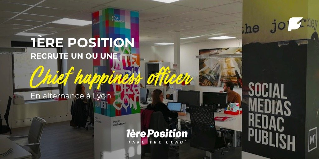 banniere : 1ere position recrute un ou une chief happiness officer