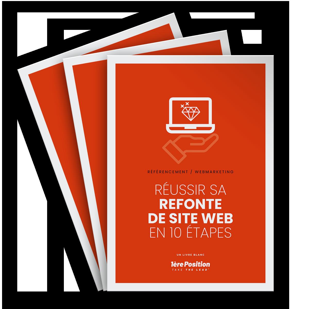 Couverture du livre blanc SEO : refonte de site web en 10 étapes
