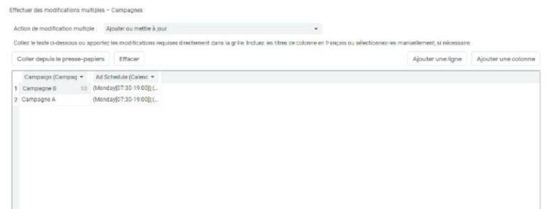 Comment modifier vos horaires de diffusion dans vos campagnes Google Ads avec Google Editor ?