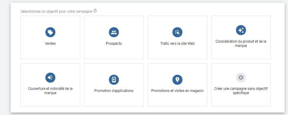 les objectifs de campagnes sur google ads