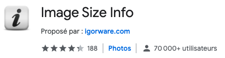 image size info extension