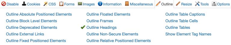 outline toolbar